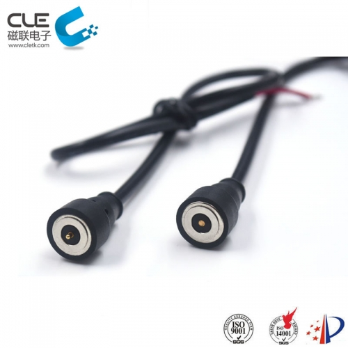Round male and female magnetic pogo pin charger