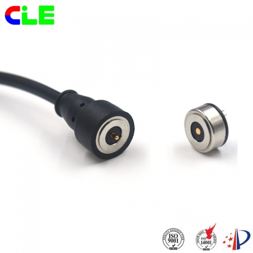 Magnetic usb cable connector with charging