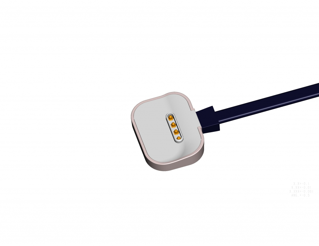 4Pin magnetic charging power cable connector for smart watch