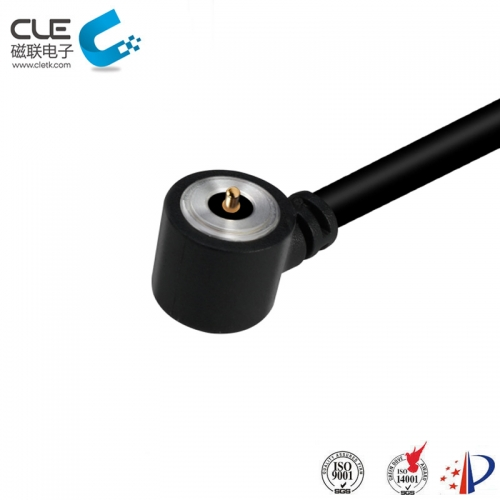 Round waterproof power cable connectors for guard tour patrol device