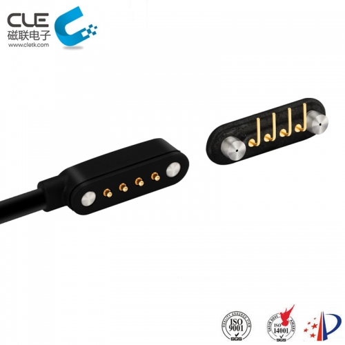 4 Pin male and female magnetic charging cable connector for smart wear