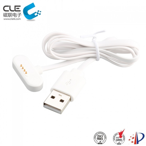 Magnetic usb charging connector with cable
