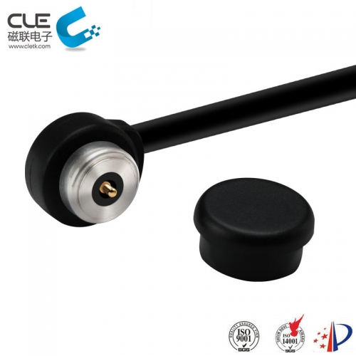 Waterproof power magnetic cable connectors for asset strip